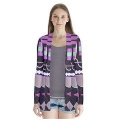 Background Abstract Geometric Drape Collar Cardigan