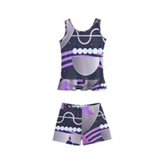 Background Abstract Geometric Kids  Boyleg Swimsuit by Nexatart