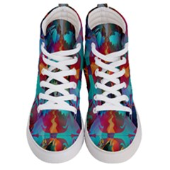 Background Sci Fi Fantasy Colorful Men s Hi Top Skate Sneakers