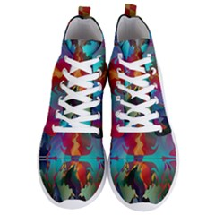 Background Sci Fi Fantasy Colorful Men s Lightweight High Top Sneakers