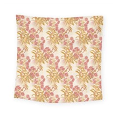 Scrapbook Floral Decorative Vintage Square Tapestry (small) by Nexatart