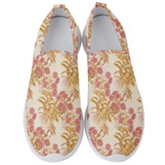 Scrapbook Floral Decorative Vintage Men s Slip On Sneakers by Nexatart