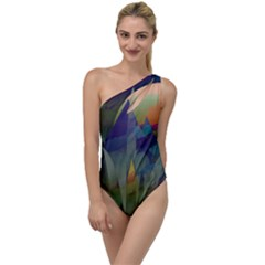 Mountains Abstract Mountain Range To One Side Swimsuit