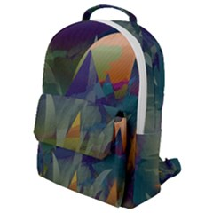 Mountains Abstract Mountain Range Flap Pocket Backpack (small)
