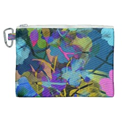 Flowers Abstract Branches Canvas Cosmetic Bag (xl) by Nexatart
