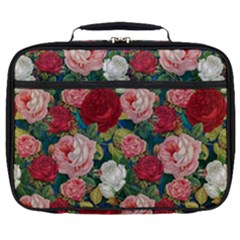 Roses Repeat Floral Bouquet Full Print Lunch Bag