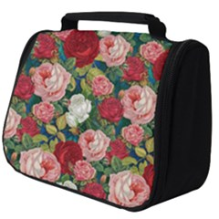 Roses Repeat Floral Bouquet Full Print Travel Pouch (big)