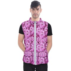 Happy Florals  Giving  Peace Ornate Men s Puffer Vest by pepitasart