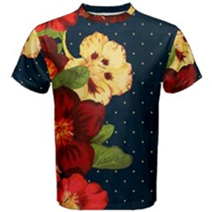 All Good Things   Floral Pattern Men s Cotton Tee