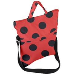 Bug Cubism Flat Insect Pattern Fold Over Handle Tote Bag