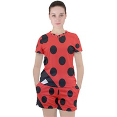 Bug Cubism Flat Insect Pattern Women s Tee And Shorts Set