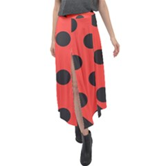 Bug Cubism Flat Insect Pattern Velour Split Maxi Skirt
