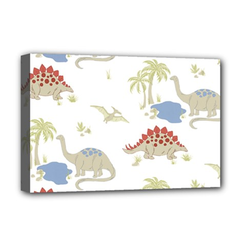 Dinosaur Animal Art Pattern Deluxe Canvas 18  X 12  (stretched) by BangZart