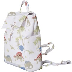 Dinosaur Animal Art Pattern Buckle Everyday Backpack by BangZart