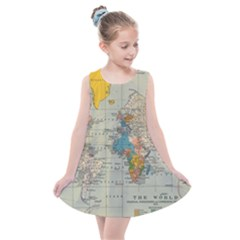 World Map Vintage Kids  Summer Dress by BangZart