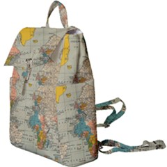 World Map Vintage Buckle Everyday Backpack by BangZart