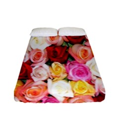 Roses Color Beautiful Flowers Fitted Sheet (full/ Double Size) by BangZart
