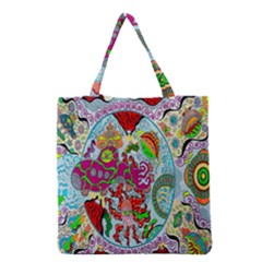 Supersonic Volcanic Splash Grocery Tote Bag by chellerayartisans