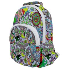 Supersonic Volcanic Mushroom Power Rounded Multi Pocket Backpack by chellerayartisans