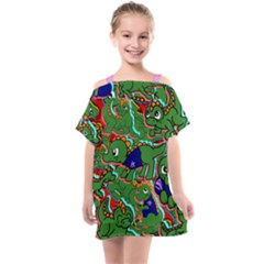 Alli The Alligator Kids  One Piece Chiffon Dress by AuroraMountainFashion