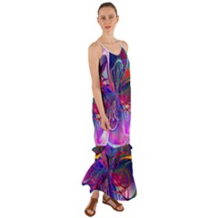 Rainbow Paint Pattern 1 Cami Maxi Ruffle Chiffon Dress
