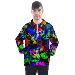 Multicolored Abstract Print Men s Half Zip Pullover