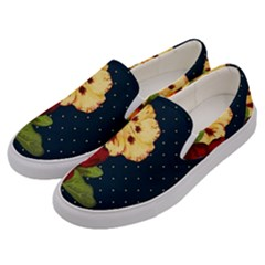 All Good Things   Floral Pattern Men s Canvas Slip Ons by WensdaiAddamns