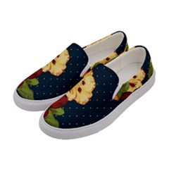 All Good Things   Floral Pattern Women s Canvas Slip Ons by WensdaiAddamns