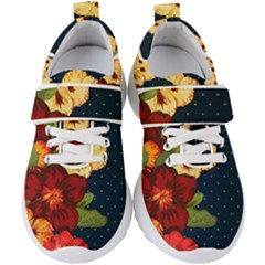 All Good Things   Floral Pattern Kids  Velcro Strap Shoes by WensdaiAmbrose