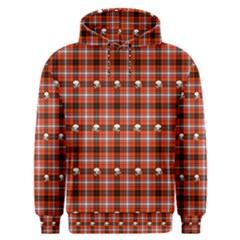Plaid   Red With Skulls Men s Overhead Hoodie