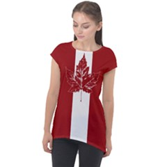 Cool Canada Shirts Cap Sleeve High Low Top by CanadaSouvenirs