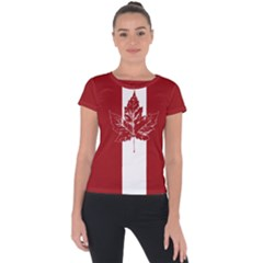 Cool Canada Shirts Short Sleeve Sports Top  by CanadaSouvenirs