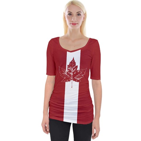 Cool Canada Shirts Wide Neckline Tee by CanadaSouvenirs