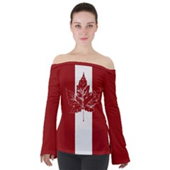 Cool Canada Shirts Off Shoulder Long Sleeve Top by CanadaSouvenirs