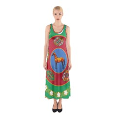 Turkmenistan National Emblem, 2000-2003 Sleeveless Maxi Dress by abbeyz71