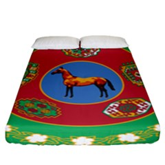 Turkmenistan National Emblem, 2000-2003 Fitted Sheet (king Size) by abbeyz71