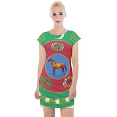 Turkmenistan National Emblem, 2000-2003 Cap Sleeve Bodycon Dress by abbeyz71