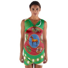 Turkmenistan National Emblem, 2000-2003 Wrap Front Bodycon Dress by abbeyz71