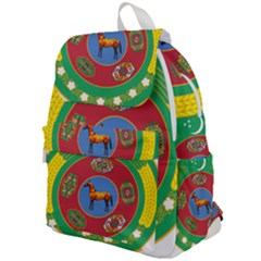 Turkmenistan National Emblem, 2000-2003 Top Flap Backpack by abbeyz71