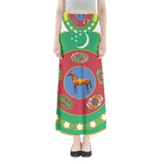 Turkmenistan National Emblem, 2000-2003 Full Length Maxi Skirt by abbeyz71