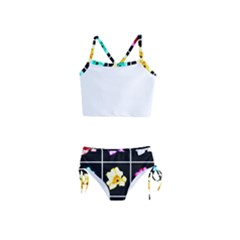Tulips Collage Girls  Tankini Swimsuit