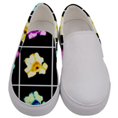 Tulips Collage Men s Canvas Slip Ons