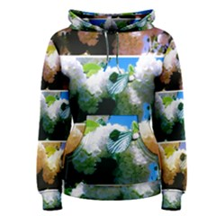 Snowball Branch Collage (i) Women s Pullover Hoodie by okhismakingart