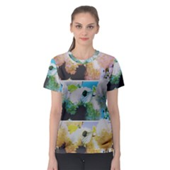 Faded Snowball Branch Collage (ii) Women s Sport Mesh Tee by okhismakingart