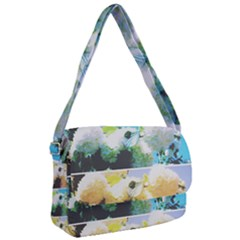 Faded Snowball Branch Collage (ii) Courier Bag by okhismakingart