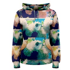 Washed Out Snowball Branch Collage (iv) Women s Pullover Hoodie by okhismakingart