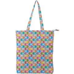 Seamless Pattern Background Abstract Double Zip Up Tote Bag by Pakrebo