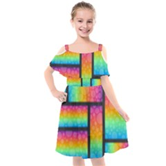 Background Colorful Abstract Kids  Cut Out Shoulders Chiffon Dress by Pakrebo