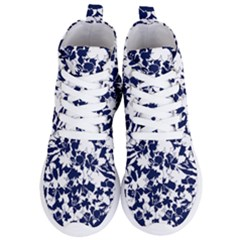 Flowers Garden Textiles Fabric Women s Lightweight High Top Sneakers by Pakrebo