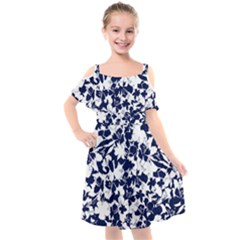 Flowers Garden Textiles Fabric Kids  Cut Out Shoulders Chiffon Dress by Pakrebo